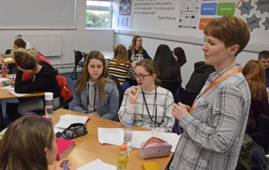 English Language students work with local author