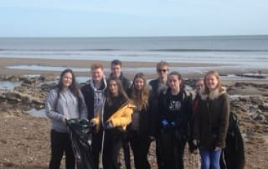 Seaham Hall Beach Clean