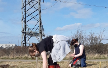 QE students go green for  Darlington Forest Project