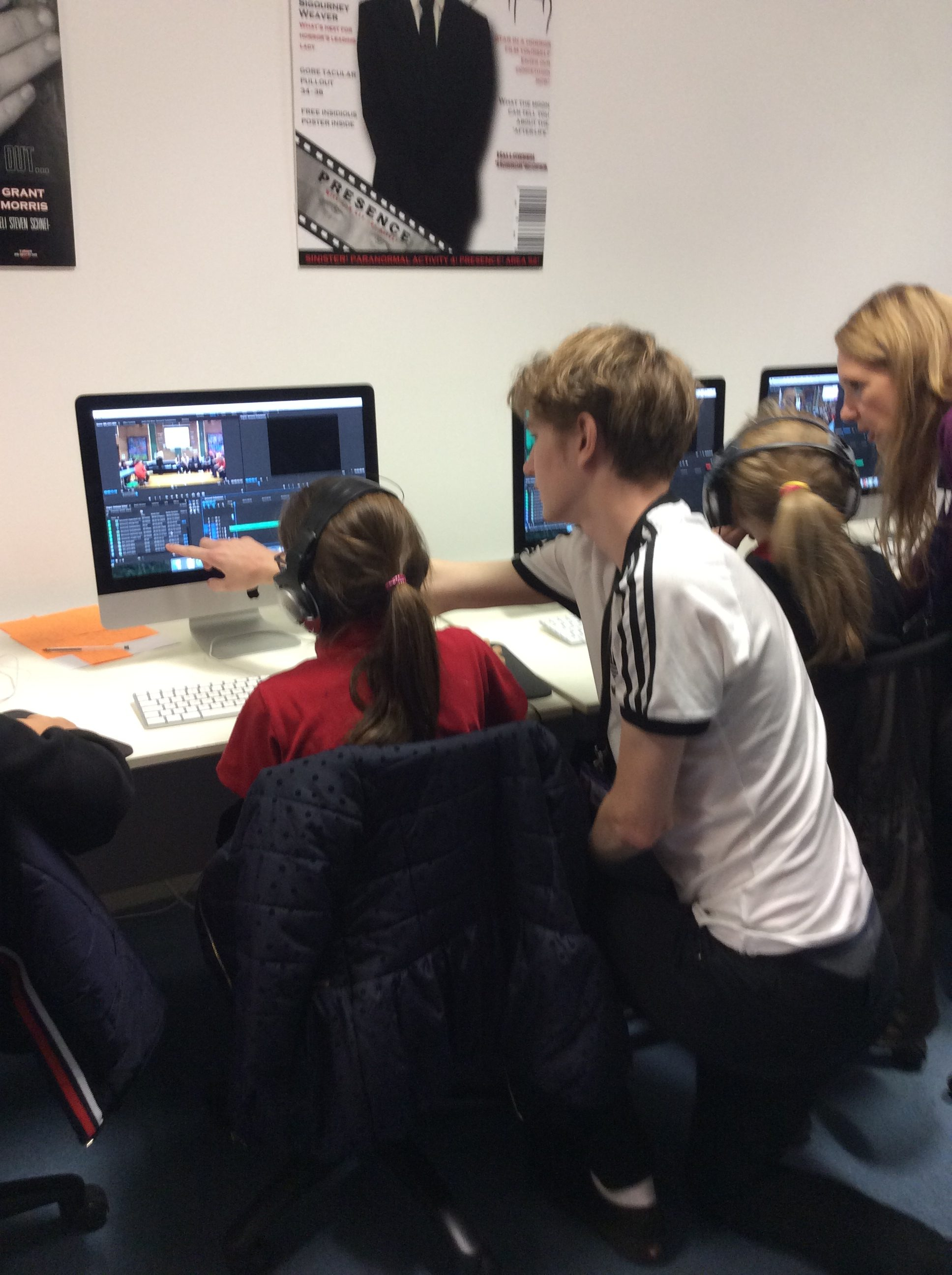 QE students mentor media stars of the future