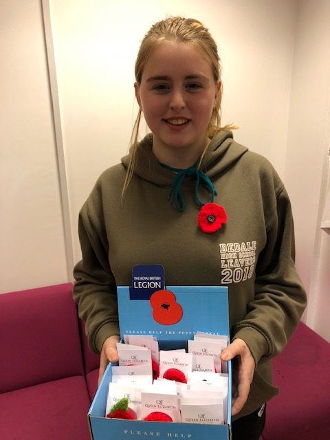 QE Students mark First World War Centenary with special Poppy Appeal