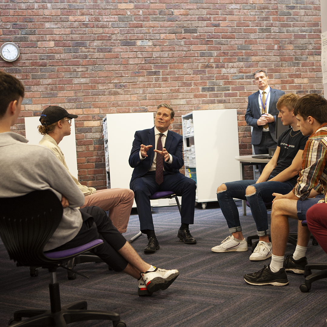 QE Hosts VIP Visitor on A Level Results Day