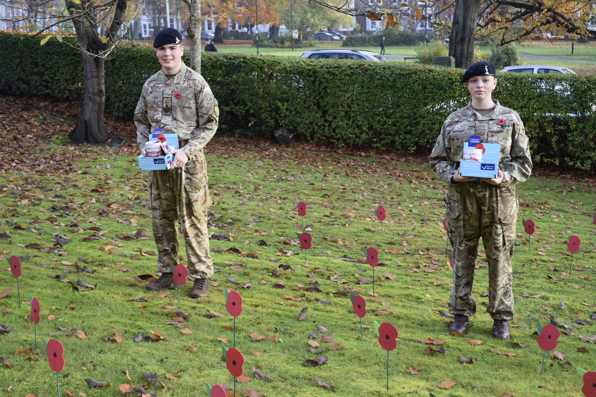 QE staff and students support  Poppy Appeal